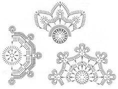 """Mis Pasatiempos Amo el Crochet: Gancho de los copos de nieve.""""Accesorios de navidad"""""""