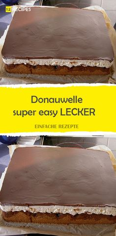 Donauwelle super easy LECKER Donauwelle super easy LECKER The post Donauwelle super easy LECKER appeared first on Kuchen Rezepte. Easy Cake Recipes, Cookie Recipes, Dessert Recipes, Oatmeal No Bake Cookies, Dark Chocolate Cookies, Cupcakes, Pudding Desserts, Food Cakes, Super Easy