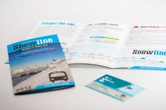 NZSki Snowline brochure design communicating product benefits, bus timetables and map route illustration Creative Brochure, Brochure Design, Web Design, Logo Design, Graphic Design, Seo, Digital Marketing, Branding, The Incredibles