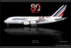 Air France / Airbus A380 / 80 Ans Years / Le ciel passionnément / The sky is our passion / Livery concept / Special paint scheme