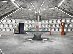 I always felt that a TARDIS console room from the William Hartnell era should be the starting point. Large, clean, white, bright, and with the occasional . Doctor Who Tardis, Die Tardis, Doctor Who Tv, Uk Tv Shows, William Hartnell, Blake Lively Style, Fantastic Voyage, Dalek, Dr Who