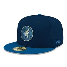 wholesale dealer 9be60 6e2e7 Minnesota Timberwolves New Era Official Team Color 2Tone 59FIFTY Fitted Hat  - Navy