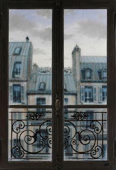 Paris window by Claude Lazar