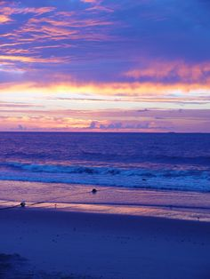 periwinkle sunrise on the Jersey Shore