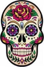 Mexican Skull Tattoos, Mexican Skulls, Mexican Art, Sugar Skull Painting, Sugar Skull Artwork, Body Painting, Calaveras Mexicanas Tattoo, Caveira Mexicana Tattoo, Los Muertos Tattoo