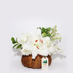 Bushel Bowl- Choice of available bouquets arranged nicely in a rattan basket