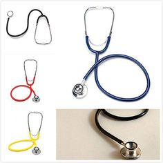 Portable Dual Head  Clinical Stethoscope Medical Auscultation Device Stereoscopic 4 Colors Free Shipping