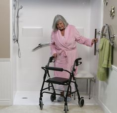 Roll In Showers, Grab Bars, Assisted Living, Freedom, Safety, Simple, Apartment Bathroom Design, First Aid, Bath Room