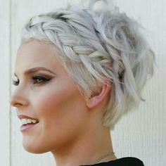Pixie with braids