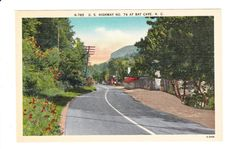 Highway 74 Bat Cave North Carolina Vintage Postcard by PicturesFromThePast