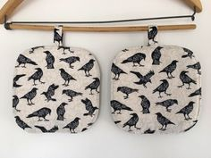 A personal favorite from my Etsy shop https://www.etsy.com/listing/530526191/pot-holders-2-hot-pads-ravens-crows