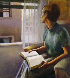 Books and Art - Stories Deborah Dewit (American, born Oil. Reading Art, Woman Reading, I Love Reading, Reading Books, People Reading, Book People, Books To Read For Women, Art Story, Lectures