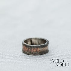 This mens wedding band was made with a inner Silver sleeve to avoid discolouration to the skin and Copper outer to allow for the dark patina finish. Sterling Silver Mens Rings, Patina Finish, Wedding Bands, Rings For Men, Copper, Engagement Rings, Jewellery, Dark, Sleeve