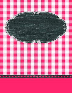9 Free Editable Binder Covers in Gingham Check - FREE; Filofax, Binder Covers Free, Monogram Binder, Envelopes, Teacher Binder, Borders And Frames, Notebook Covers, Classroom Organization, Organizing