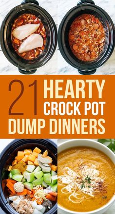 21 Crock Pot Dump Dinners For Winter