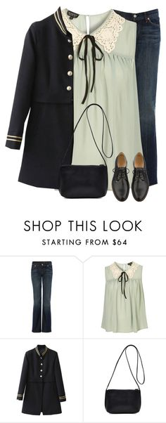 """""""Be Yourself And The World Will Adjust"""" by nightowl59 ❤ liked on Polyvore featuring 7 For All Mankind, A.P.C. and polyvoreeditorial"""
