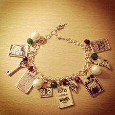 Vintage Votes For Women/ Suffragette Charm Bracelet. Handmade, Unique by VeeAccessories on Etsy https://www.etsy.com/listing/126812529/vintage-votes-for-women-suffragette