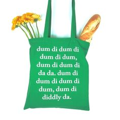 The Archers Typographical Shopping Bag Tote Green Gift BBC Ambridge £12.00