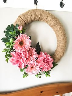This beautiful spring wreath is the perfect way to spruce up your front door this season. It's simple and classy while still being cheerful and fun. This wreath… Mesh Wreaths, Holiday Wreaths, Wreaths For Front Door, Spring Wreaths, Front Porch, Yarn Wreaths, Tulle Wreath, Winter Wreaths, Floral Wreaths