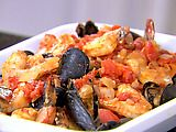 Saw this recipe on Food Network and it looked great. Striped bass, mussels, and shrimp