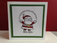 Simple Santa Get Your Santa On set from Stampin' Up! for some of the simplest cards ever.