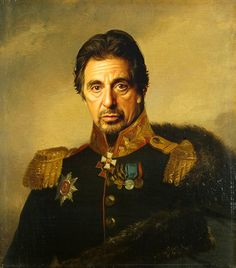 digital military portraits paintings - replace face Steve Payne