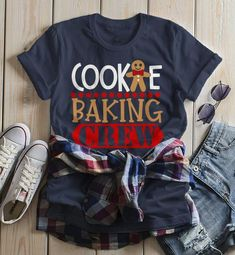 christmas Women's Christmas T Shirt Cookie Baking Crew Matching Xmas Shirts Cute Graphic Tee This graphic tee is perfect for Christmas! Let everyone know you're with the cookie baking crew. Funny Christmas Shirts, Xmas Shirts, Vinyl Shirts, Christmas Humor, Christmas Fun, T Shirts, Winter Shirts, Womens Christmas, Kids Christmas Shirts