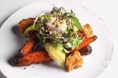 Roasted Carrot and Avocado Salad by Florence Fabricant - Probably the best way I have ever had carrots prepared. The flavors all just complement each other so well and the citrus adds a very surprising and delightful brightness. Can't wait to make this again! 02/09/15