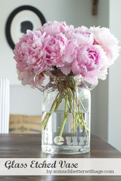 Glass Etched Vase made with the Silhouette  | So Much Better With Age