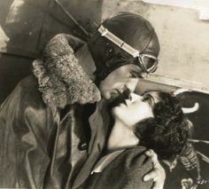 Gary Cooper & Fay Wray in lost film Legion of the Condemned (1928, dir. William A. Wellman)