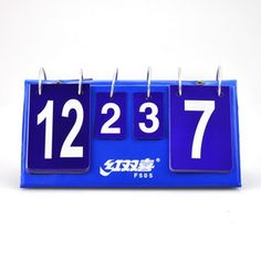 DHS F505 Portable Flip Table Tennis Scoreboard, Ping Pong Scorekeeper