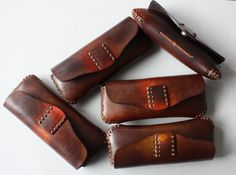 #leather spectacle case, handmade in Romania