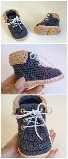 Crochet Baby Boots From 0 To 3 Months Mützen Schals und Co. Crochet Baby Boots From 0 To 3 Months Be Baby Shoes Pattern, Baby Patterns, Crochet Patterns, Crochet Ideas, Crochet Baby Boots Pattern, Afghan Patterns, Booties Crochet, Crochet Slippers, Youtube Crochet