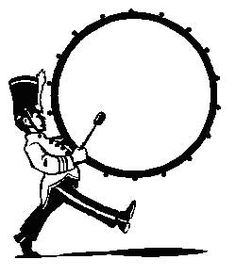 bass drum marching band clip art clipart free clipart clipart rh pinterest com