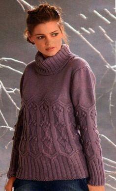 Сиреневый свитер с шишечками