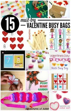 15 Must-Try Valentine Busy Bags. Fun, easy screen free activities for kids. Lego Valentines, Valentine Theme, Valentines Day Activities, Valentine Day Crafts, Valentine Stuff, Valentine's Day Printables, Busy Bags, Business For Kids, Preschool Activities