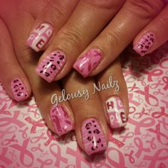 Breast cancer nail art