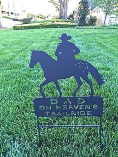 Appaloosa Horse Memorial Pet Memorials Metal Address Sign Cowboy Grave Marker   eBay