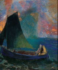 Odilon Redon (1840-1916)La barqu (1900) pastel 58.5 x 48.2 cm  Collection Jean Bonna (Metropolitan Museum of Art)