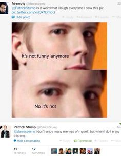 whats awesome is that patrick stump responded with a meme.