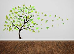 Blowing Tree- Vinyl wall decal living room nursery childrens Lettering wall words graphics Home decor itswritteninvinyl. $149.00, via Etsy.