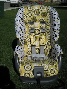 Car seat re-cover.  Love it!  Since you were making fun of the BRIGHT pink one!  Lol!!!  Let's change it if it's that bad!