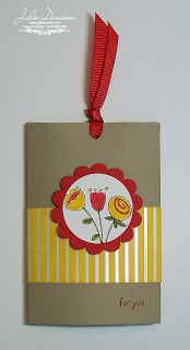 Julie's Stamping Spot -- Stampin' Up! Project Ideas by Julie Davison: Sneak Peek: Ribbon Pull Treat Holder
