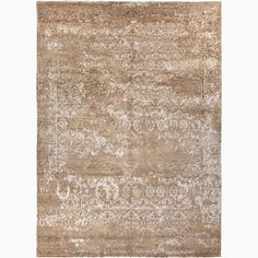The hand knotted  Global rug takes inspiration from faded textures in stunning color combinations. This rug has its own story and is beautifully executed in hand carded wool with bamboo silk.<br><br>...