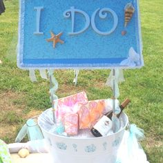Wishing well for my soon-to-be sister in-law :) beach theme!!