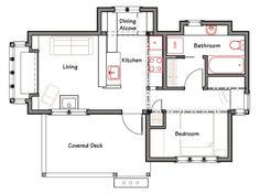 images about Tiny House Plans on Pinterest   Cabin plans    Elegant Simple Floor Plans For A Small House On Floor With House Plans   Ross Chapin