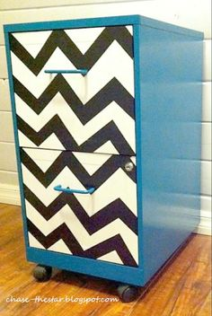 File Cabinet Makeover - this would be a great added feature for a DIY desk made out of file cabinets