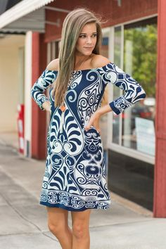 Just What I Had In Mind Dress, Navy