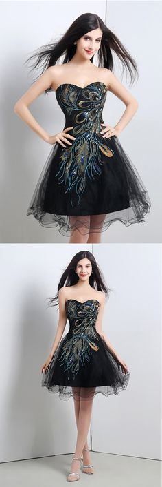 Only $76.99, Prom Dresses Special Black Short Embroidery Homecoming Dress For Juniors #H76086 at #GemGrace. View more special Prom Dresses,Homecoming Dresses now? GemGrace is a solution for those who want to buy delicate gowns with affordable prices, a solution for those who have unique ideas about their gowns. 2018 new arrivals, shop now to get $10 off!
