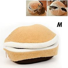 Hamburger Style Shell Nest Windproof Waterproof Removable Pet Cat Bed House Thermal Hiding Medium -- Visit the image link more details.
